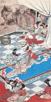 仙女群乐图 by liu yuesheng