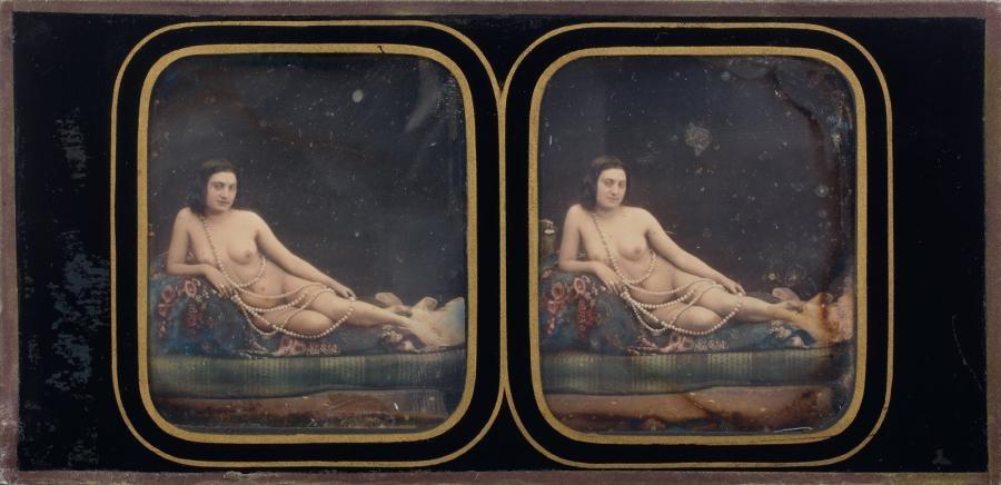 jeune odalisque au grand sautoir de perles by joseph auguste belloc