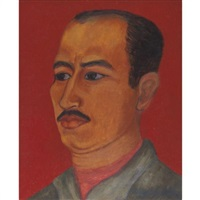 portrait of jose chavez morado by olga costa