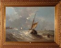 marine sous un ciel d'orage by hendrik vader