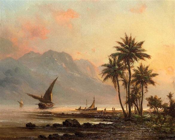 venezuelan coastal landscape by fritz siegfried george melbye