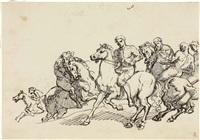 gruppo di cavalieri by giuseppe sabatelli