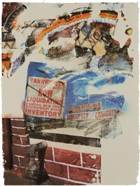 la uncovered #6 by robert rauschenberg