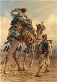 beduinfamilj i öknen by carl haag