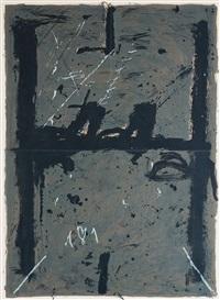 la grande grise by antoni tàpies