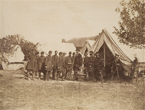 lincoln at antietam battlefield 11 others 12 works by gardner