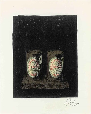ale cans by jasper johns