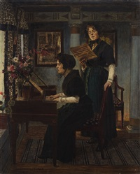 the singing lesson by walter firle