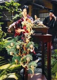 ai-chan bonsai (pine) in the garden (collaboration w/ai kato) by makoto aida