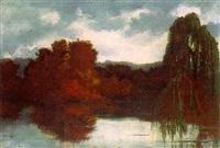 bäume am grunewaldsee by jacques samu kende