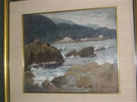 rocky coast by gustave f. goetsch