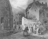 le garde-champêtre du village faisant une annonce by augustin roger