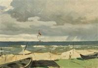 coastal scene by vitali aleksandrovich markin