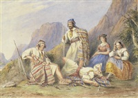 greek bandits (pair) by henry melling