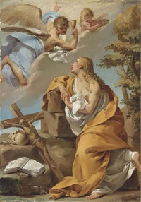 an angel appearing to the penitent mary magdalen by gaetano gandolfi