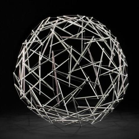 90 strut tensegrity geodesic dome by buckminster fuller