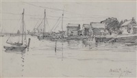 harbor scene by walter griffin