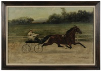 portrait of a trotter pulling a sulky by gean smith