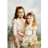 flower girls by louis adolphe tessier