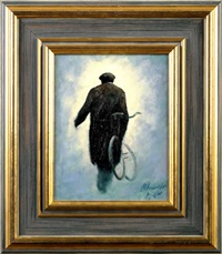 gadgie with bicycle by alexander millar