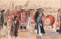 une procession à haiphong by dominique charles fouqueray