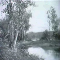 waldlandschaft am fluss by mathilde lenoir