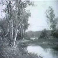 waldlandschaft am fluss by mathilde lenoir