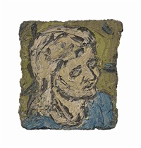 small head of rosalind ii by leon kossoff