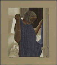 a book of hours - labours of the months: hotel maid; january; february; march; april; may; june; july; august; september; october; november; december (album w/ 12 works) by david alexander colville