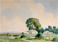 farmhouse in countryside by robert wesley amick