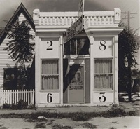 facade of house with large numbers, denver, colorado, august by walker evans