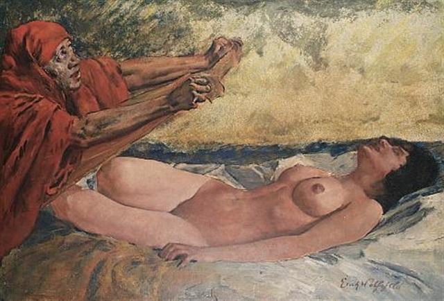 reclining nude by erich wolsfeld