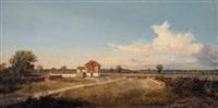 veduta di campagna con fattoria by c. marko