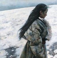 冬日默默的脚步 (the silent step of winter) by ai xuan