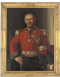 portrait of deputy-lieutenant bayley in a full military uniform by noel denholm davis