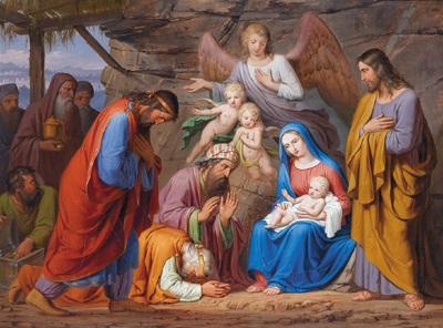die anbetung der hl drei könige by josef arnold the elder