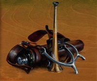 horn, flask and spurs by henry koehler