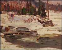 algonquin park near canoe lake by alexander young jackson