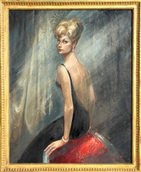 portrait of a blonde beauty by locca