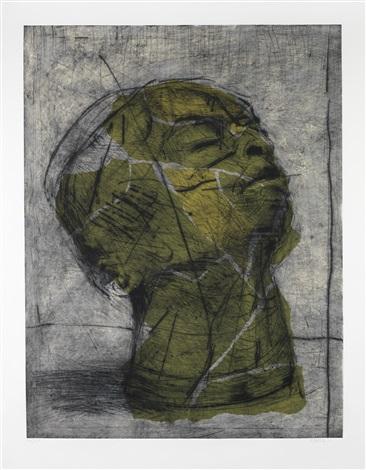 head (green) by william kentridge