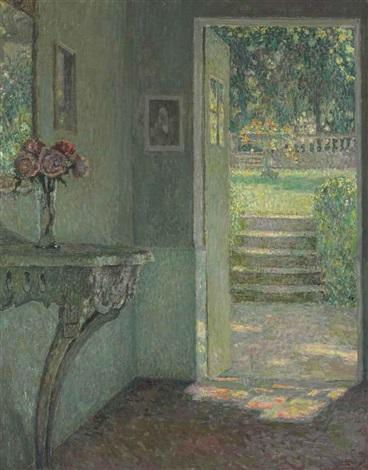 la porte du jardin la console by henri le sidaner