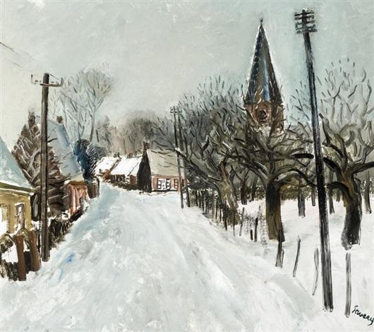 deurle en hiver by albert saverys