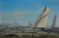 yachts off sydney. collection of terry & felicity read by charles f. gerrard