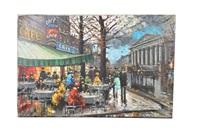 escena de café parisino by henri renard