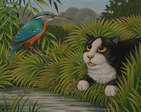 cat and kingfisher by fred aris
