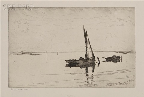 off pea island proof impression b 7 by frank weston benson