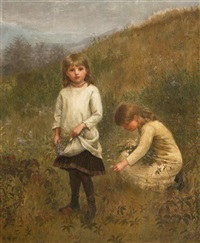 gathering flowers by jennie augusta brownscombe
