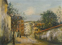 rue du mont cenis by maurice utrillo