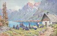 lac de rabuons (basses-alpess), 13e bataillon des chasseurs alpins de barcelonette by bernard rambaud