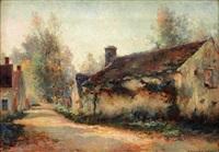 hameau dans la campagne by michel korochansky
